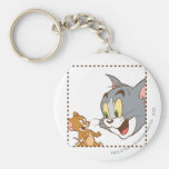 Tom and Jerry Stamp Keychains