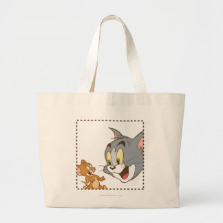 Tom and Jerry Stamp Large Tote Bag