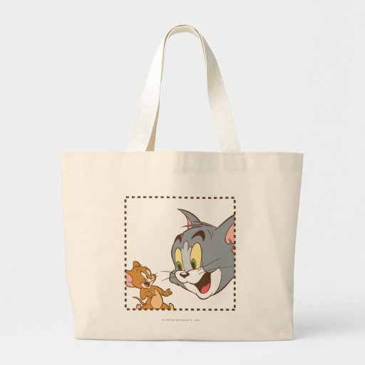 Tom and Jerry Stamp Tote Bags