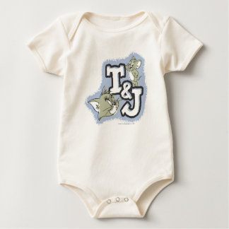 Tom and Jerry T&J Logo Baby Creeper