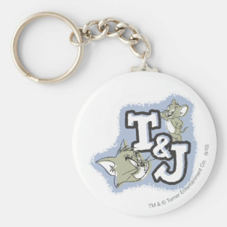 Tom and Jerry T&J Logo Keychain
