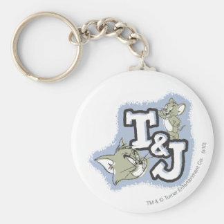 Tom and Jerry T&J Logo Keychain