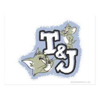 Tom and Jerry T&J Logo Postcard