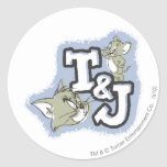 Tom and Jerry T&J Logo Stickers