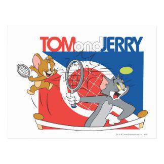 Tom and Jerry Tennis Stars 4 Postcard