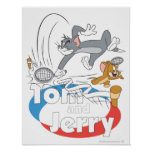 Tom and Jerry Tennis Stars 7 Print