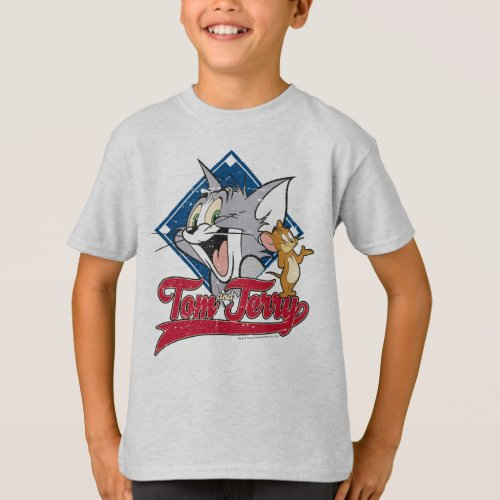 Tom And Jerry  Tom And Jerry On Baseball Diamond T_Shirt
