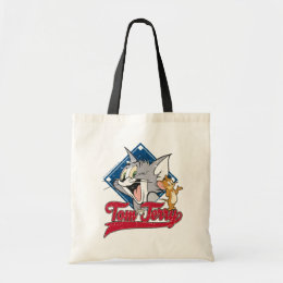 Tom And Jerry | Tom And Jerry On Baseball Diamond Tote Bag