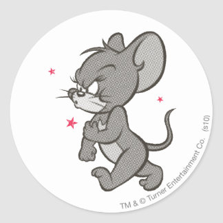 Tom and Jerry Tough Mouse 1 Round Sticker