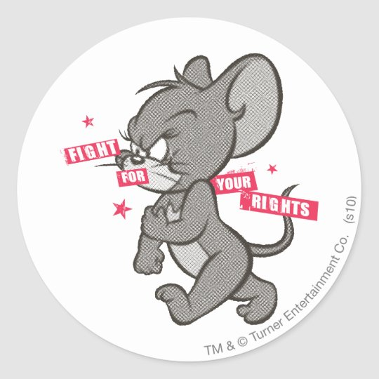 Tom and Jerry Tough Mouse 3 Classic Round Sticker