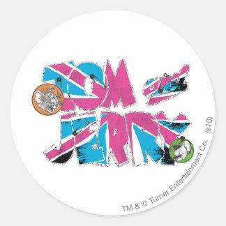 Tom and Jerry UK Overload Classic Round Sticker