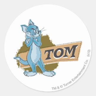 Tom Attitude Logo Classic Round Sticker