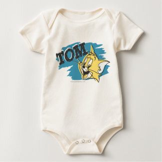 Tom Blue and Yellow Logo Baby Bodysuits