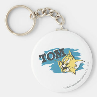 Tom Blue and Yellow Logo Keychain