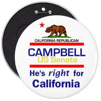 """Tom CAMPBELL 2010 6"""" botón"""