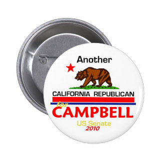 Tom CAMPBELL 2010 Button
