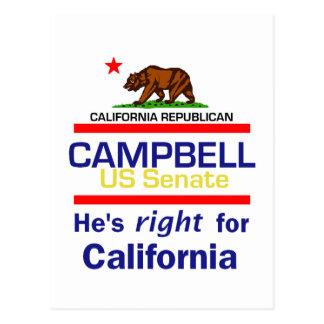 Tom CAMPBELL 2010 Postcard