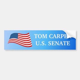 Tom Carper for Senate Bumper Sticker Car Bumper Sticker