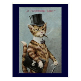 Tom Cat Dressed to the Nines Postcard