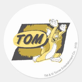 Tom Chasing Classic Round Sticker