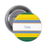 Tom Classic Stripes Pinback Button