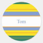 Tom Classic Stripes Stickers