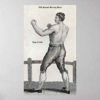 Tom Cribb boxing hero - 14x24 Canvas Matte Poster