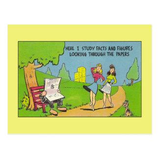 Tom de mirada furtiva, humor de Británicos del Tarjeta Postal