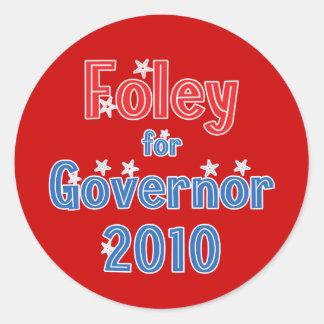 Tom Foley for Governor 2010 Star Design Classic Round Sticker