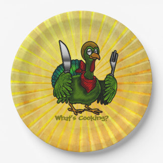 Tom Foolery Funny Turkey in Sunshine 9 Inch Paper Plate