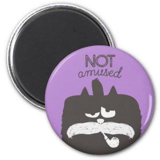 """"""""""" Tom-gato no divertido con el bigote y el tubo Imán Redondo 5 Cm"""