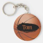 Tom Grunge Basketball Key Chain / Key Ring