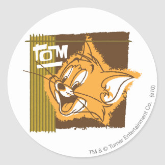 Tom Happy Face Classic Round Sticker
