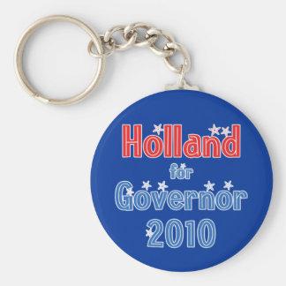 Tom Holland for Governor 2010 Star Design Keychain