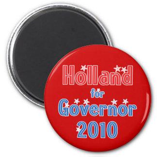 Tom Holland for Governor 2010 Star Design Magnet