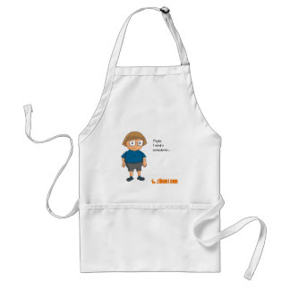 Tom in kitchen adult apron