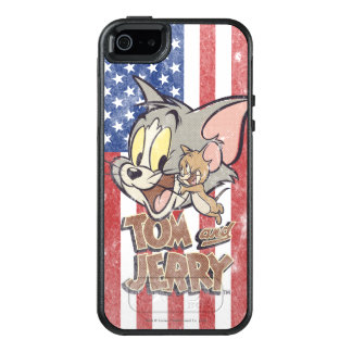Tom & Jerry With US Flag OtterBox iPhone 5/5s/SE Case