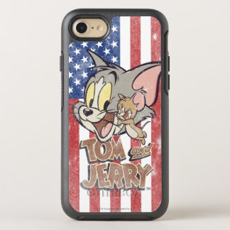 Tom & Jerry With US Flag OtterBox Symmetry iPhone 7 Case