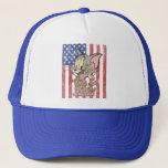 "Tom &amp; Jerry With US Flag Trucker Hat<br><div class=""desc"">Tom &amp; Jerry</div>"