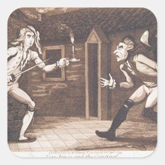 Tom Jones and the Centinel, 1799 Square Sticker