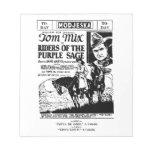 Tom Mix 1925 print advertisement Scratch Pad