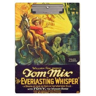 Tom Mix 1925 silent movie exhibitor ad Western Clipboard