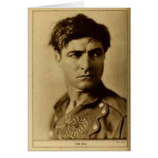Tom Mix 1926 rugged actor portrait silent films Card