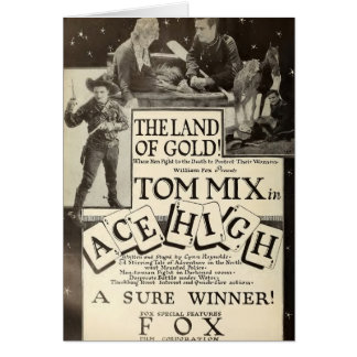 Tom Mix Ace High 1918 movie ad card