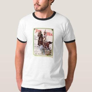 Tom Mix and Tony 1927 movies promo T-shirt