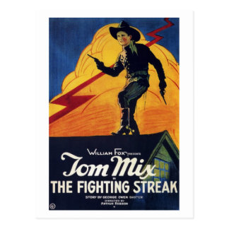 Tom Mix in The Fighting Streak Postcard