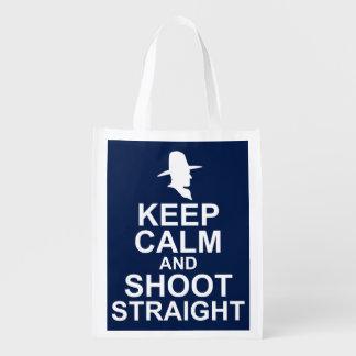Tom Mix Keep Calm and Shoot Straight Reusable Grocery Bag