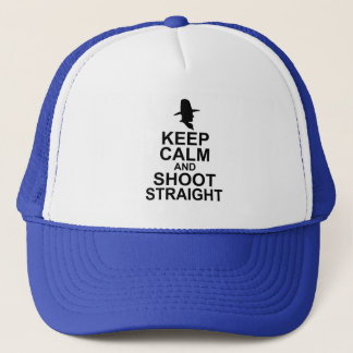 Tom Mix Keep Calm and Shoot Straight Trucker Hat
