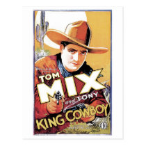 Tom Mix - King Cowboy Postcard