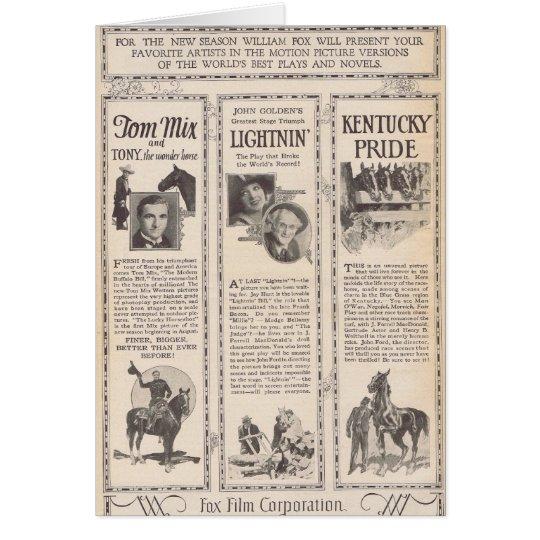 Tom Mix Madge Bellamy silent movie ads 1925 Card